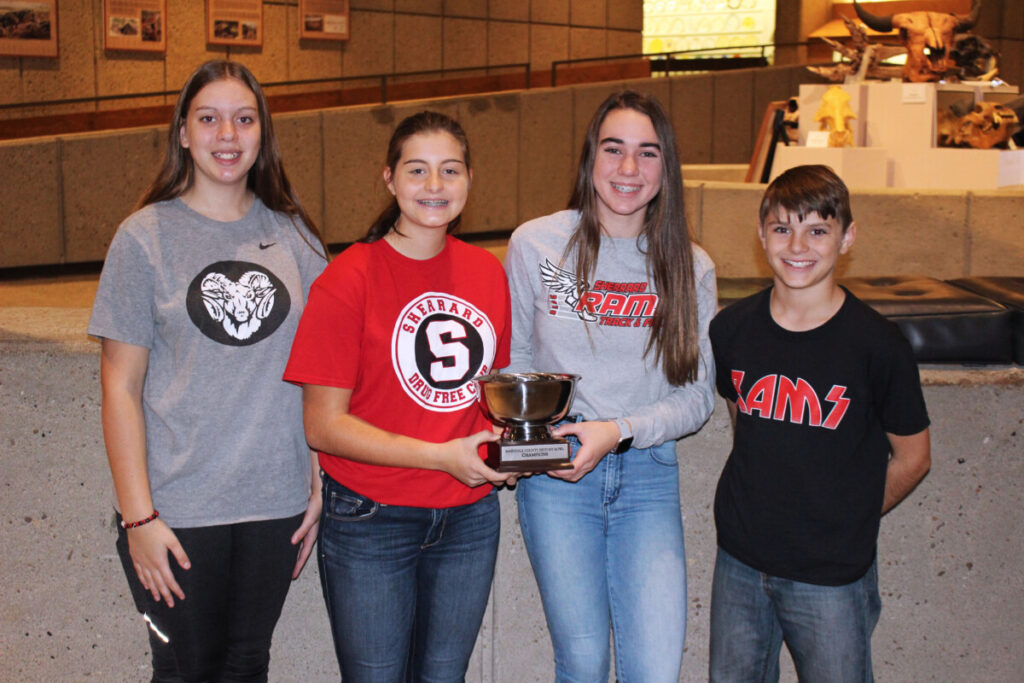Pictured is Sherrard Middle School Team 1 from left: Grace Gatts, Alexis Cumberledge, Reese Ward and Adam Carman.