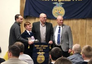 Cameron High School 7th grade FFA member Carter Bertram was recognized during the 76th Annual WV FFA Ham, Bacon and Egg Show and Sale. He earned the title of Reserve Champion in the Egg category.