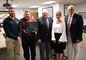 During Tuesday evening's Marshall County Schools Board of Education meeting, representatives from the West Virginia Board and Department of Education recognized six schools from the district for showing academic growth and meeting annual targets during the 2017-2018 school year.