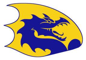 blue and gold Cameron High School logo